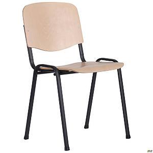 Шкільний стілець АМФ З Вуд чорні ніжки тверде сидіння-фанера береза