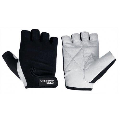 Рукавички для фітнесу MFG-208.4 B (чорний / білий)