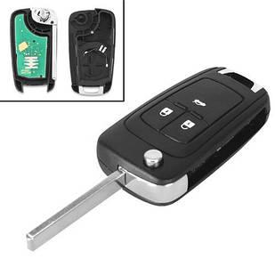Ключ зажигания, чип ID46 PCF7941, 3 кнопки, для Chevrolet Aveo, Cruze