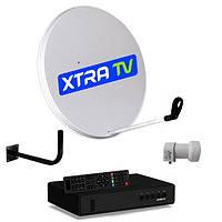 Комплект для спутникового телевидения Xtra TV Light (цифровой спутниковый DVB-S2 тюнер Xtra TV Box Verimatrix)