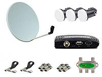 Комплект спутникового ТВ (ресивер Open SX1 HD + спутниковая антенна Variant  CA-900 + аксессуары)