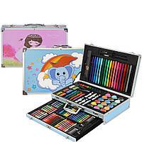 Детский набор для рисования 123 предмета Kids Art Set / Детский набор для творчества / Чемодан для рисования