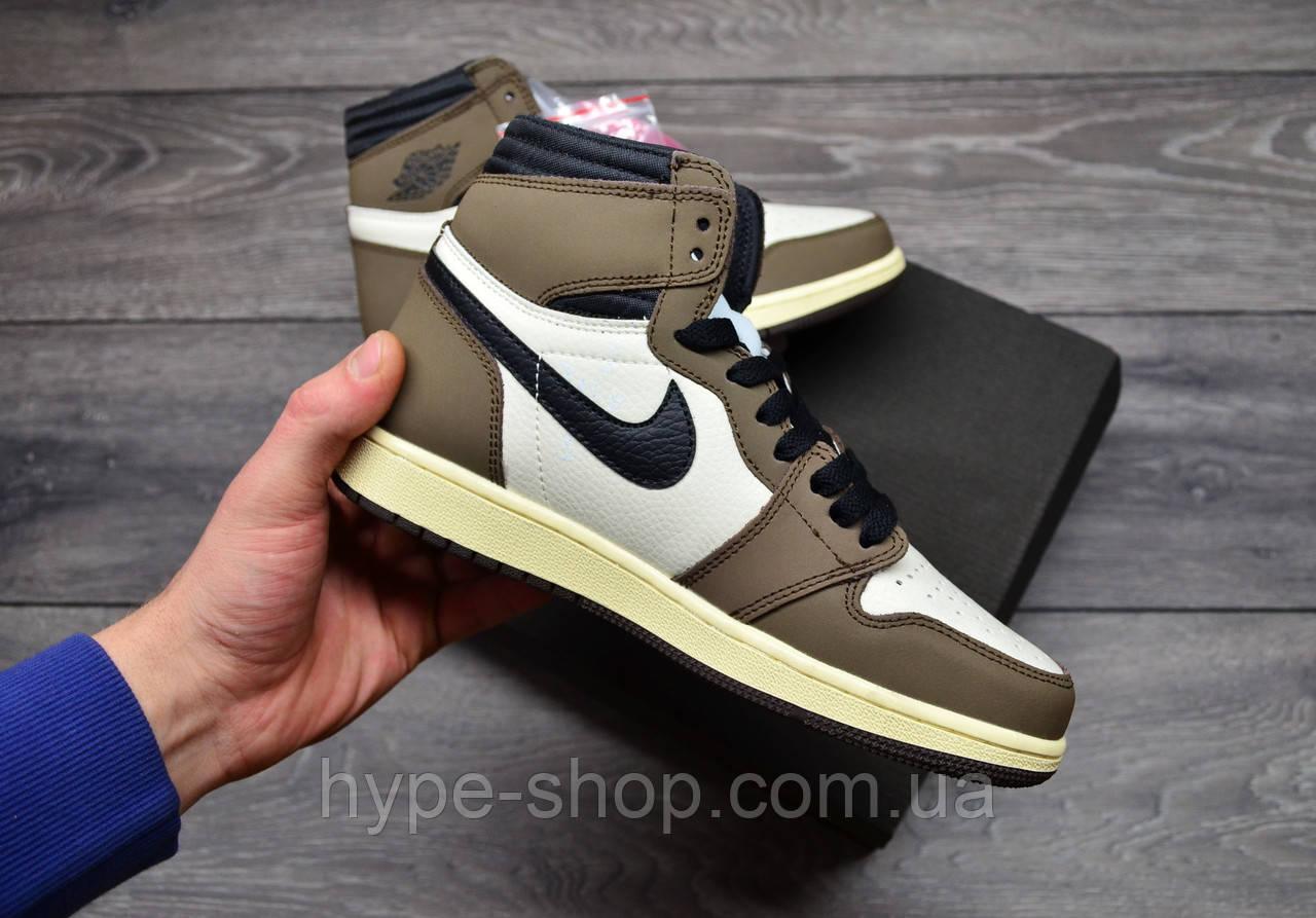 Чоловічі кросівки Nike AirJordan 1 Retro High x Travis Scott