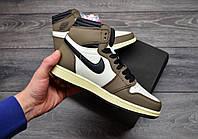 Чоловічі кросівки Nike AirJordan 1 Retro High x Travis Scott, фото 1