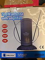 Антенна комнатная с усилителем Cabletech 020 для приема цифрового сигнала DVB/T2