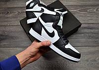 Мужские кроссовки Nike Air Jordan Retro 1 Black/White