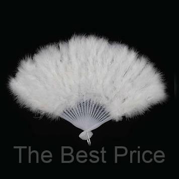 Веер перо (белый)