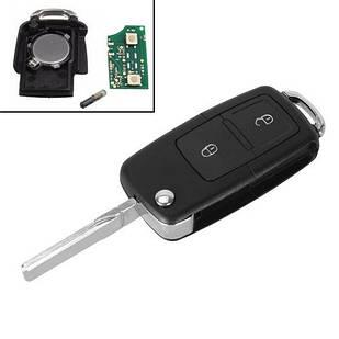 Ключ зажигания, чип ID48 1J0959753AG 2 кнопки HU66 для VW Golf Passat