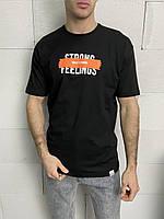 Чоловіча футболка чорна Strong Feelings, фото 1
