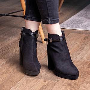 Ботильоны женские Fashion Zamboni 2425 35 размер 23 см Черный