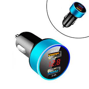 Автомобильное зарядное устройство 2x USB 2.4А QC3.0 в прикуриватель