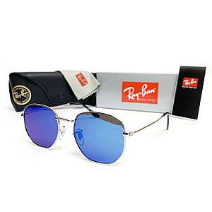 Солнцезащитные Очки R-B Hexagonal Зеркало Синий