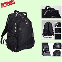 Рюкзак Универсальный SwissGear Wenger 8810-3 Швейцарский вместительный с USB Черный  городской рюкзак