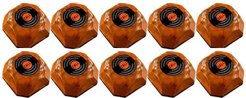 Фото: кнопки виклику офіціанта HCM-110 Wood - 10 штук - комплект системи виклику RECS №105