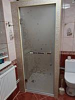 Скляні двері в душ з малюнком 650 * 2000 двері з загартованого скла 8 мм