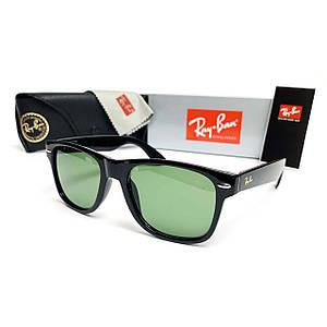 Солнцезащитные Очки R-B Wayfarer Зеленая Линза Стекло