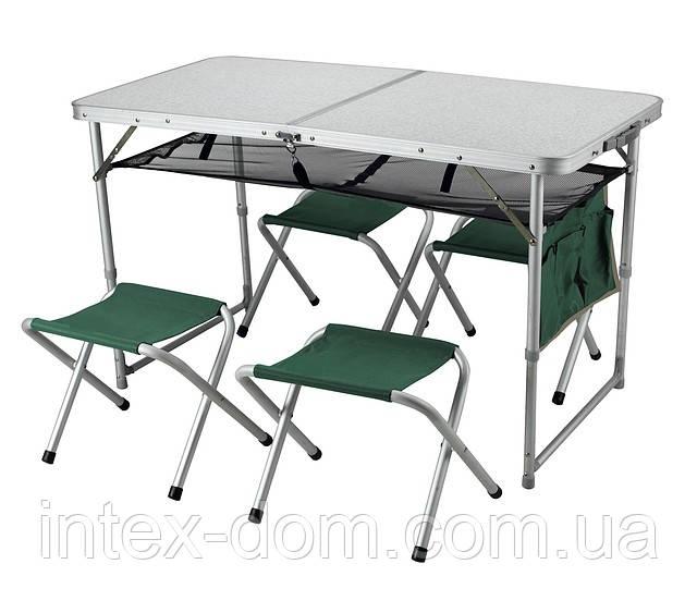 Раскладной алюминиевый стол  ТА-21407+FS21 4стульчика