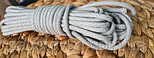 Шнур плетений 5 мм з сердечником Світло-сірий