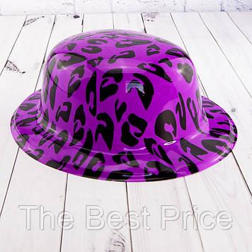 Шляпа Котелок пластик с принтом Саванна