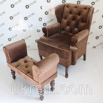 Кресло-трон для педикюра Diamant Mini Кресло+банкетка