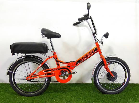 """Складаний електровелосипед Azimut 20"""" 350W 24v (пробіг - 30км), фото 2"""