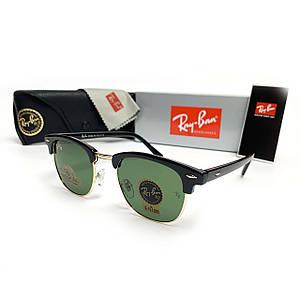 Солнцезащитные Очки R-B Clubmaster Зеленая Стекляная Линза