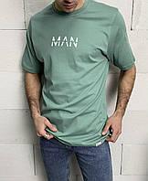 Мужская футболка мятная Man, фото 1