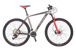 """Гірський велосипед Crosser Solo 29"""" ( рама 19 ) Сіро-червоний"""