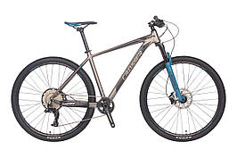"""Гірський велосипед Crosser Solo 29"""" ( рама 19 ) Сіро-синій"""