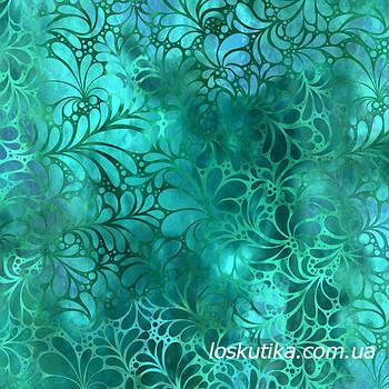 59027 Драгоценный оттенок (лазурь). Ткань для шитья, руколелия, декора, скрапбукинга, пэчворка.