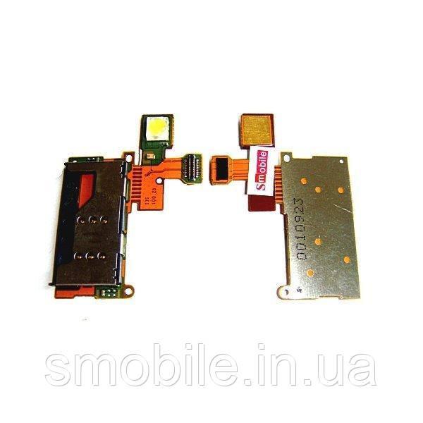 Шлейф Sony Ericsson W995 + разъем SIM карты