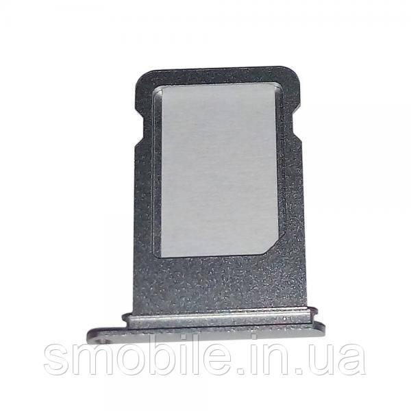 Держатель, внешний слот SIM карты iPhone 7 Plus серебристый (оригинал)