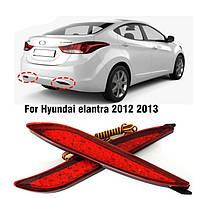 Задние габаритные фонари Hyundai Elantra 2011 2012 2013, стоп +  габариты в бампер