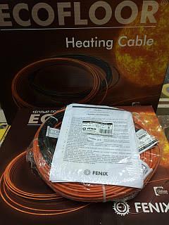 3м2 Нагрівальний кабель 24м 420Вт Fenix Ecofloor (Чехія) ADSV18 для теплої підлоги
