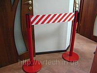 Стойка Tensabarrier Plus, основание Universal, лента 2,3 м, шириной 150 мм. Цветное напыление