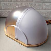 Хлебница деревянная белая с прозрачной откидной крышкой Kamille 36x26x19 см