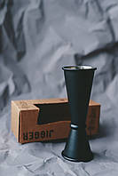"""J011B Джиггер черный матовый 15/30/45 мл, сталь 18/10 """"The Bars"""", фото 1"""