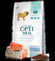 Optimeal Hypoallergenic Large Breed, гипоалергенный корм для собак больших пород, 12 кг