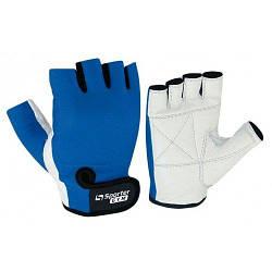 Перчатки для фитнеса MFG-208.4 A (синий/ белый)