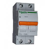 Автомат 2П 25A C Schneider Electric Домовой 11215