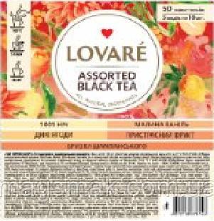 Чай Lovare / Ловаре Чорний асорті, 50 пакетів, фото 2
