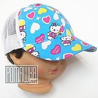 Детская р 46-48 9-18 мес летняя кепка на девочку для девочки детей ребёнка на лето хлопок 4251 Голубой 46