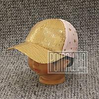 Детская р 48 1-1,5 года 100 % хлопок летняя кепка бейсболка для девочки девочке тонкая на лето 6074 Розовый