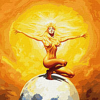 Картина за номерами - Володарка сонця з фарбами металiк (КНО9543)