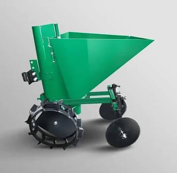 Картофелесажалка для мотоблока квадратная зелёная  35 л, без бункера удобрений Зализо
