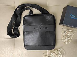Мужская сумка-планшет с плечевым ремнем из кожзама 23*20*2 см