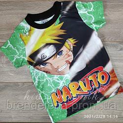 Футболка дитяча для хлопчиків -Naruto - зеленого кольору 5-6-7-8 років