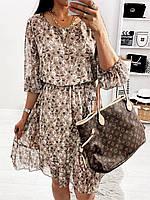Платье шифоновое с цветочным принтом женское (ПОШТУЧНО), фото 1