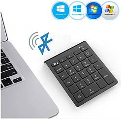 Клавиатура цифровая беспроводная bluetooth 28 клавиш. Bluetooth числовая клавиатура на батарейках для Windows