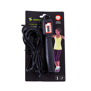 Фітнес скакалка з лічильником для фітнесу і спорту, IronMaster 2.75 м, канат PVC